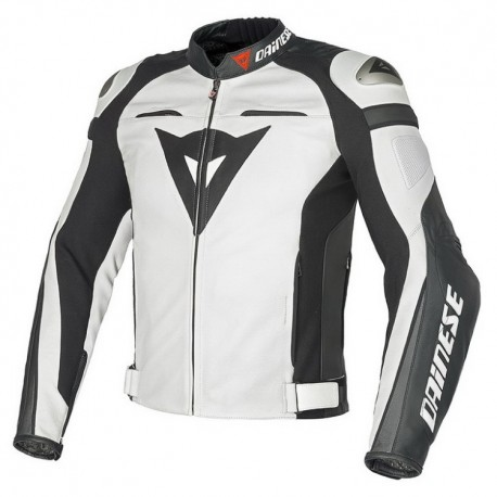Pánská kožená moto bunda Dainese SUPER SPEED C2 PELLE bílá
