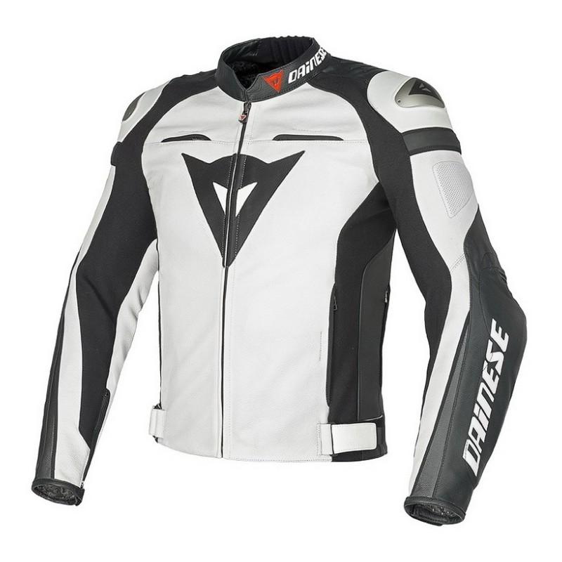 Pánská kožená moto bunda Dainese SUPER SPEED C2 PELLE bílá - Motostyle c1c67ac870f