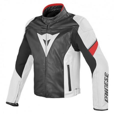 Dainese pánská kožená bunda na motorku AIRFAST PELLE černá bílá červená a349fff556