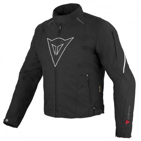 Pánská moto bunda Dainese LAGUNA SECA D-DRY černá/bílá, textilní