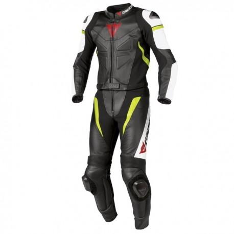 Dainese pánská kožená bunda na motorku AIRFAST PELLE černá/bílá/červená